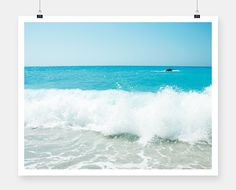 Few weeks before our new spring-summer collection, i can't think anything else apart from summer, sea, sun and swimming. Don't miss our wall poster collection with seascapes plus the te… Summer Photography, Landscape Photography, Poster Wall, Poster Prints, Blue Poster, Greece Islands, Waves, Wall Art, Minimal