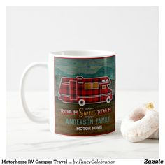 Shop Motorhome RV Camper Travel Van Rustic Personalized Coffee Mug created by FancyCelebration. Personalize it with photos & text or purchase as is! Van Camping, Camping With Kids, Camping Meals, Camping Gadgets, Camping Tips, Personalized Coffee Mugs, Personalized Gifts, Stainless Steel Coffee Mugs, Rv Campers