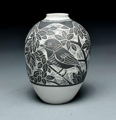 Porcelain Vase by Laurie Landry