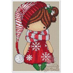 #mika__mila_katya #magic__dolls #crossstitch #вышивка @magic__dolls Christmas gnome/Рождественский гном 60*92 stitch, 19 DMC color, 1 color beads, cross stitch, backstitch