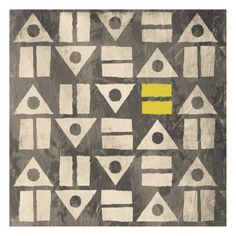 Pattern II (gray and yellow) Affiches par Jace Grey sur AllPosters.fr
