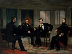 <p>George Peter Alexander Healy,<i>The Peacemakers</i>,1868.Image courtesy of the White House Collection/White House Historical Association.</p>