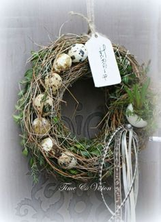 Osterkranz - - Best Picture For ribbon Wreath For Your Taste You are looking for something, and it is going to tell you exactly what you are looking for Advent Wreath, Diy Wreath, Grapevine Wreath, Burlap Wreath, Deco Floral, Easter Wreaths, Spring Wreaths, How To Make Wreaths, Spring Crafts