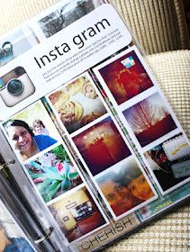 #papercraft #scrapbooking #ProjectLife making the book::: idea- sew plastic sheets to make the perfect size for instagram photos or make a photoshop layout for instagram photos 8.5x11