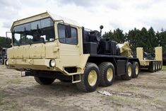 FAUN SLT 50-3 heavy flat hauler