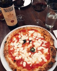 Pizza and Wine is always a good idea!  #yummy