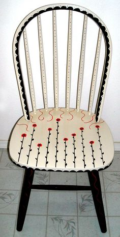 Personal Artwork - Painted Chairs by Carrie Butler at Coroflot.com #PaintedChair