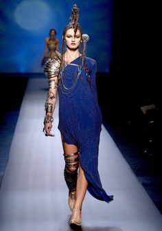 Jean Paul Gaultier S/S 2010 - Love the armor jewelry!