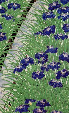 une inconnue impassible nue | huariqueje:  Irises -  Heihachiro Fukuda,...