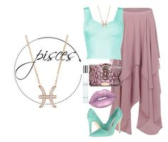 """Pisces"" by dearunique ❤ liked on Polyvore featuring Boohoo, Alice + Olivia, GEDEBE, Latelita, Lime Crime and Giorgio Armani"