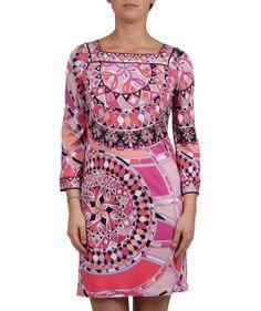 Groppetti Luxury Store - Abito Fantasia Scollo Quadrato - Emilio Pucci Spring Summer Collection 2014 #emiliopucci #woman #fashion