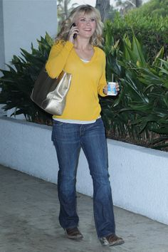 Alison Sweeney caught snacking on-the-go