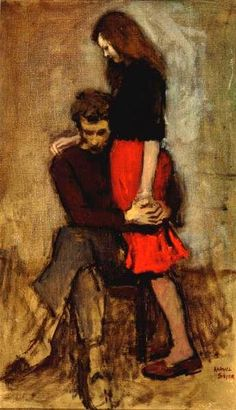 Consolation by Raphael Soyer, 1959!! OMG it's Rory and Amy Pond!! In 1959!!