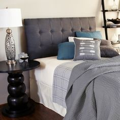 Humble + Haute Sussex Charcoal Queen Upholstered Headboard | Overstock.com Shopping - Big Discounts on Headboards