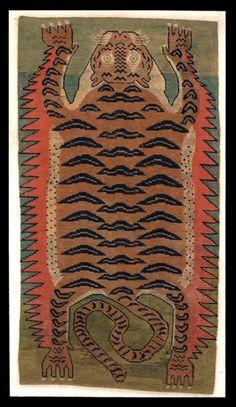 "androphilia: "" 19th Century Tibetan Tiger Rug @ The Metropolitan Museum Of Art, New York """