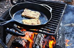 Cold weather camping? Try this cast iron skillet trick to stay warm! | via www.TheSurvivalMom.com