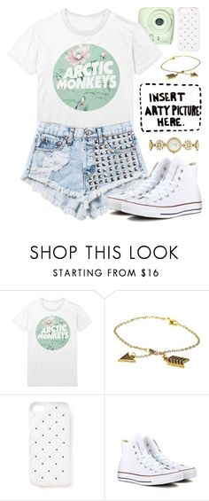 """""""""""Raindrops are my only reminder that clouds have a heartbeat. That I have one, too."""""""" by alexandra-provenzano ❤ liked on Polyvore featuring Again, House of Harlow 1960, 2Me Style, Converse and Kate Spade"""