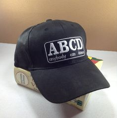 ABCD Anybody Can Dance Baseball cap by SundayNeek on Etsy