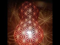 『 ひょうたんランプ、麻柄 』HEMPdelic gourd lamp