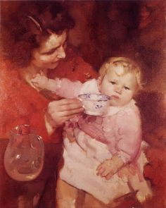 Amelia e la mamma, 1927-28 - Ambrogio Antonio Alciati (Italian, 1878-1929 )
