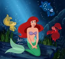 Disney Princess Fanart - Ariel - The Little Mermaid Elsa Mermaid, Mermaid Disney, Ariel The Little Mermaid, Disney Artwork, Disney Drawings, Little Mermaid Characters, Mermaid Pictures, Disney Crossovers, Princess Drawings