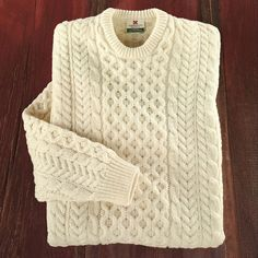 Men's Traditional Irish Aran Sweater   National Geographic Store It's hard to tell what's authentic on the internet, but I think I trust good old National Geographic