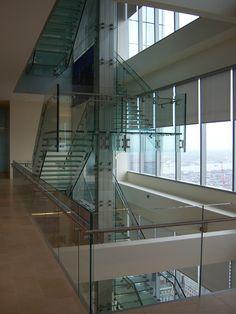 Comcast Glass Staircase, Philadelphia