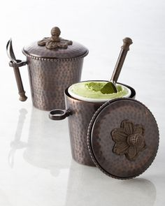 Hammered Ice Cream Bucket, Brown - GG Collection