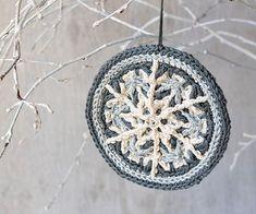 Ravelry: Frozen Snowflake hanging ornament pattern by Tatsiana Kupryianchyk