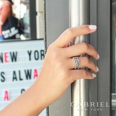 NEW- SHOP AT HOME! You can now purchase all Gabriel Fashion Jewelry right from our website! www.trevifinejewelry.com/gabriel-fashion Gabriel & Co Diamond Stackable Rings Style #LR4593W45JJ, LR4748W45JJ, LR4801W45JJ