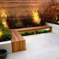 built in garden decking - Google Search