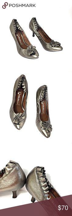 Jeffrey Campbell Silver Pewter Pumps Size 6.5 Jeffrey Campbell pumps, size 6.5. New without box. Heel replacements are included as shown. Jeffrey Campbell Shoes Heels