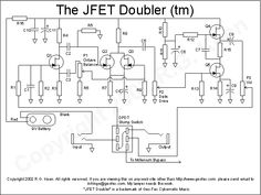 JFET Doubler Diy Guitar Pedal, Guitar Pedals, Electronic Circuit Projects, Electrical Projects, Electronics Basics, Electronics Projects, Dc Circuit, Get Running, Music Guitar