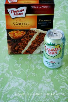 I used 1 box carrot cake mix (can use spice cake mix) and 12 oz ginger ale( can use diet). I then mixed 15 oz canned pumpkin with 1 small . Cake Mix Recipes, Ww Recipes, Cooking Recipes, Healthy Recipes, Cupcake Recipes, Healthy Desserts, Drink Recipes, Sweet Recipes, Vegetarian Recipes