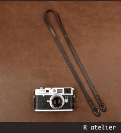 $34 | Handmade Leather Camera Strap | Classic Rangefinder Camera Strap | Dark Coffee Color #handmadeleather #leathergifts #camerastrap #cameraaccessories