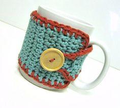 coffee mug cozy. keeps your drink warm! so cute.