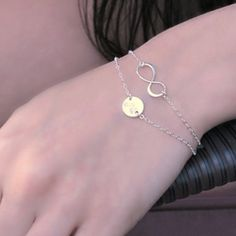 Talisman Jewelry Layered Infinity Monogram Sterling Sliver Bracelet $50.00 #thebellacottage #accessories #fashion
