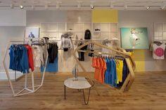 adidas by Stella McCartney flagship store, London #rail #display-rack