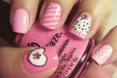 When adding a vignette cupcakes, the pink nail becomes pretty impressive and more unique.The Cutest Nail,Easy Cute Nail,Cute Nail Designs Pictures of Cute Nails,Really Cute Nail Designs,Cute at Home Nail Designs,31 Nail Designs for Summer,Cute Nail Styles for Teens