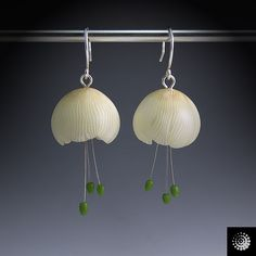 beautiful jellyfish earrings by Bettina Welker