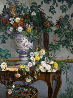 'Fleurs' (1868) by Frédéric Bazille