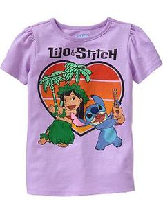Lilo & stitch shirt...most definitely have to get for eva!  @Jennifer Milsaps L Gutsmann yay!!! i hope we get this one in soon!