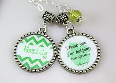Teachers  Necklace Personalized Teachers by monogramgalley on Etsy