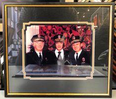 Elvis Presley with Denver Police Department Captain Jerry Kennedy and Chief Art Deil in the early 70s. #art #pictureframing #customframing #denver #colorado #denverpolice #elvispresley