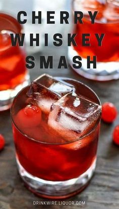 This twist on the Old Fashioned will warm you up and brighten the shortened fall days with its deep red color and fresh-picked cherry flavor. Grab a cocktail shaker and muddler, then settle in for rich flavor that's as luxurious as a cashmere sweater. Whiskey Cocktails, Cocktail Drinks, Fun Drinks, Cocktail Recipes, Cherry Cocktails, Amaretto Drinks, Brandy Cocktails, Bourbon Drinks, Fall Cocktails