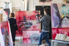 Nahlížíme do ateliéru: Ateliér Lucie Jindrák Skřivánková Online Galerie, Contemporary, Artist, Painting, Atelier, Artists, Painting Art, Paintings, Painted Canvas