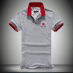 New 2013 Mens Gray Burberry Polo Shirt - Designer Outlet UK