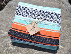 """Mexican Falsa Blanket / Yoga Blanket - Blanket is fairly large measuring 73"""" X 52"""" without counting the fringes. - Hand woven by hardworking artisans in Veracruz, these blankets are of the finest qual"""