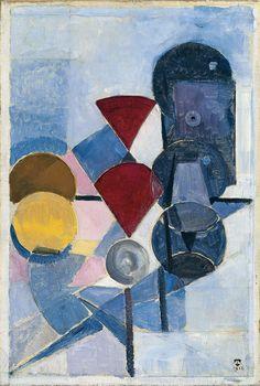 De Stijl Movement: Composition II (Still Life) by Theo van Doesburg - 1916 Davos, Piet Mondrian, Utrecht, Bauhaus, Hans Richter, Theo Van Doesburg, Hans Arp, Action Painting, Dutch Artists