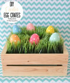 easter egg crates 20- polka dots in the country